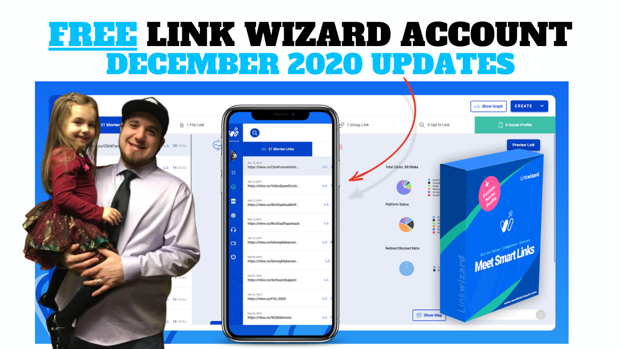 FREE LINK WIZARD ACCOUNT - DEC 2020 UPDATES