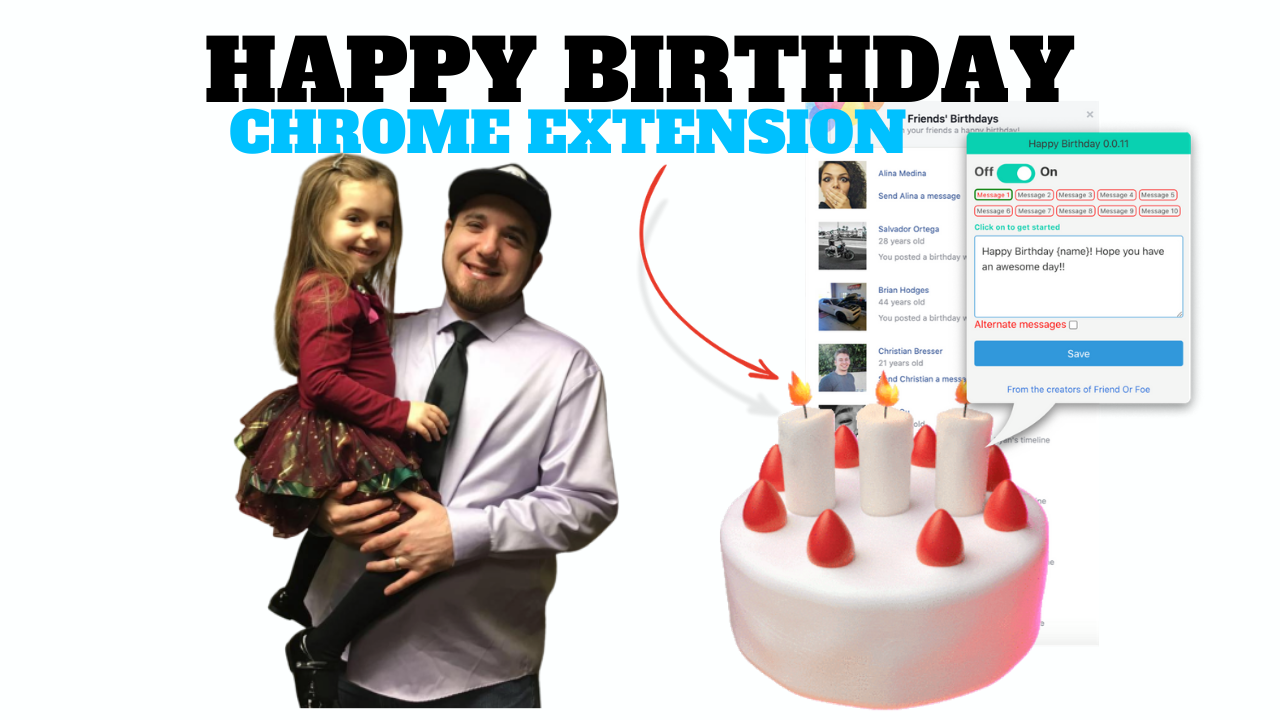 Happy Birthday Chrome Extension