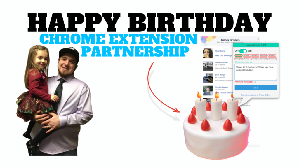 Happy Birthday Chrome Extension Partnership